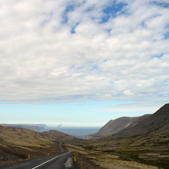 View down onto Patreksfjörður